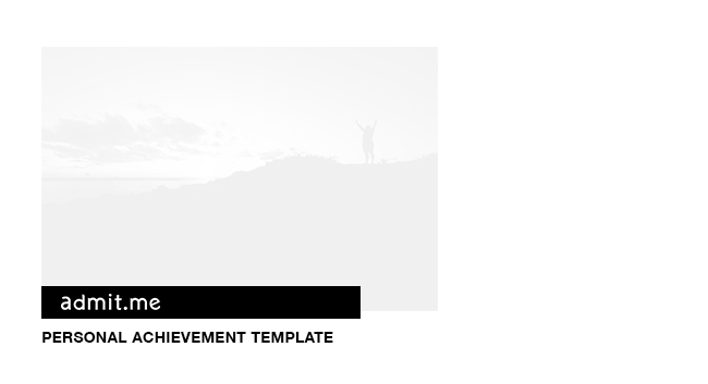 Personal Achievement Template