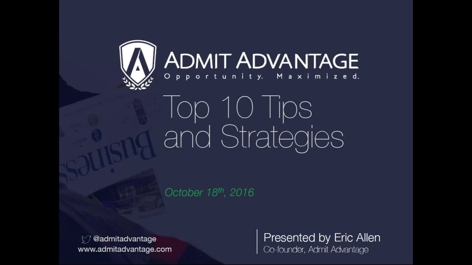 [Webinar] Secret Sauce to MBA - Top 10 Tips and Strategies