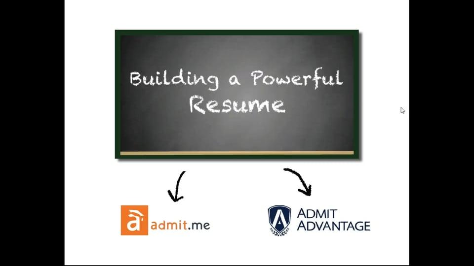 [Webinar] Building a Powerful Resume