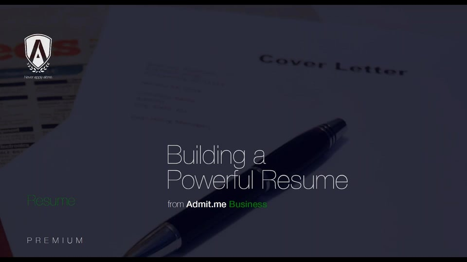 Building a Powerful Resume