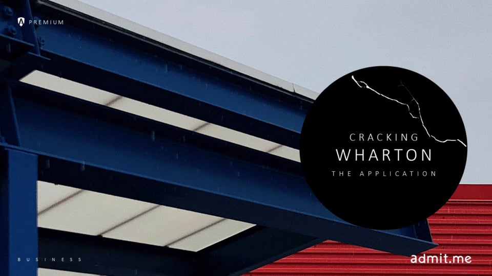 Cracking Wharton: The Application