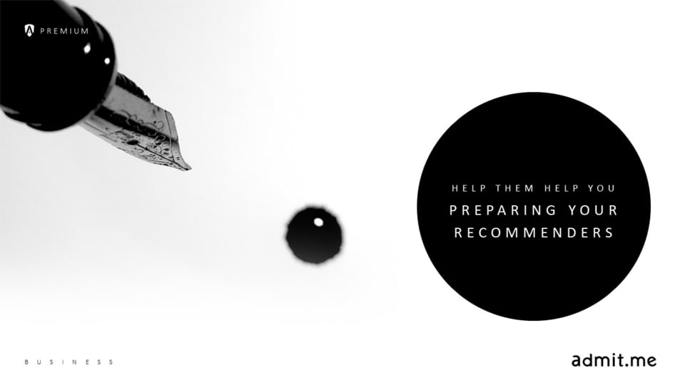 Help Them Help You: Preparing Your Recommenders